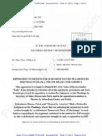 MS ECF 69 - 2012-11-14 - TvDPM - Plaintiff Opposition to Obama Et Al Joinder in Motion for JoP