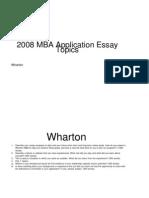 MBA SAMPLE