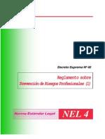 decreto supremo Nº 40 reglamento sobre prevencion de riesgos profesionales