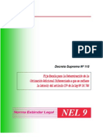 decreto supremo Nº 110 fija la escala para la determinacion de la cotizacion adicional diferenciada a la que se refiere la letra b) del articulo 15º de la ley 16.744