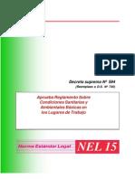 decreto supremo Nº 594 (reemplaza a D.S. Nº 745) aprueba reglamento sobre condiciones sanitarias y ambientales basicas en los lugares de trabajo