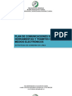PLAN DE COMUNICACIONES FASE TRANSACCIÓN