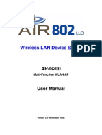 AP-G200 User Manual Ver 2.0