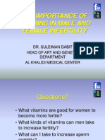 VITAMINS MALE AND FEMALE INFERTILITY