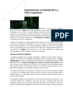CAMBIO DE PARADIGMA A PARTIR DE LA FÍSICA CUÁNTICA