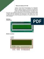 Manejo Del Display LCD 16X2