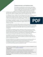 CONCEPTOS Y ELEMENTOS DE LA INVESTIGACIÓN