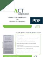 Alterações Código do Trabalho_2012