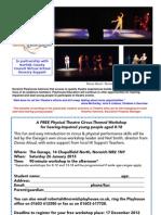 Free Circus Workshop