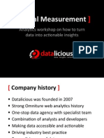 Digital Measurement - How to Turn Data into Actionable Insights
