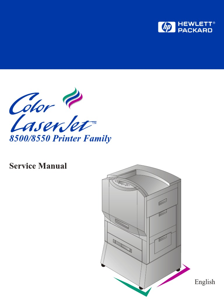 Color Laserjet 8500, 8550 Service Manual | Relative Humidity | Hewlett  Packard