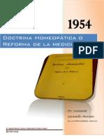 Doctrina Homeopatica o La Reforma de La Medicina Agustin Ramirez Cardozo