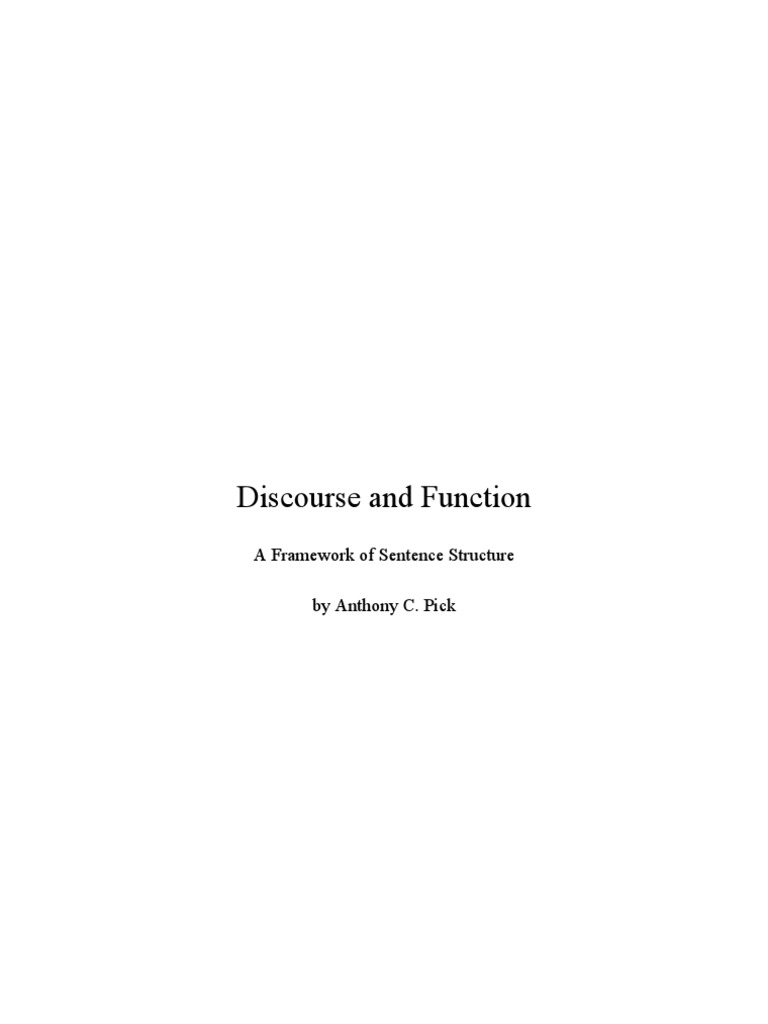 Discourse and Function  831a2ec95d
