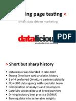 OMX Landing Page Optimization