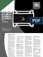 Manual Usuario JBL GTO 75.4