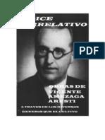 Vicente Amezaga Aresti -  Indice Correlativo Sus Obras