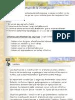 Objetivos de la Investigación (TDI)