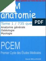 735 QCM d'Anatomie