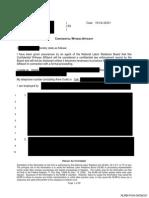 NLRB Production 9 Affidavits