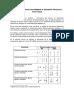 Símbolos y esquemas normalizados de diagramas eléctricos y electrónicos