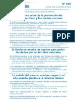 2012_11_05 Protección tráfico marítimo y fondos marinos. Ayudas catástrofes naturales