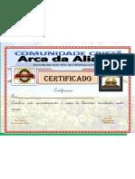 certificado Arca da aliança