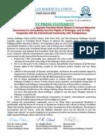 ARU-BTF-ERC Joint Press Statement