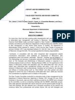 James Kroll Wisconsin Deer Report Executive Summary June 2012