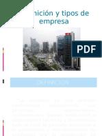 Definicion y Tipos de Empresa