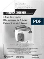 Rice Cooker Manual