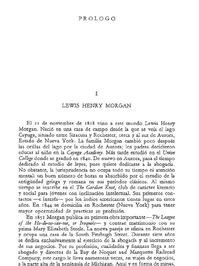 Morgan. La sociedad primitiva. Prólogo
