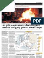 Manifestaciones en Europa contra la austeridad