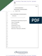 Transcript of March 7, 2012 Responsible Vendor Hearing for L. D'Agostini & Sons, Inc.