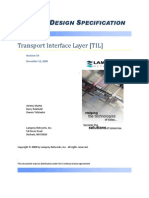 Transport Layer Architecture and Software Design
