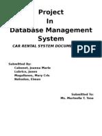 Car Rental System Documentation