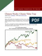 Chinese Stocks / SHCOMP
