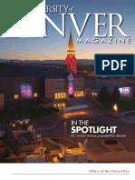 University of Denver Magazine Winter 2012