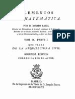 1796 Benito Bails Arquitectura Civil