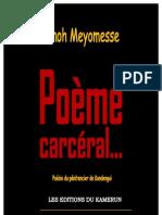Enoh Meyomesse Poeme Carceral