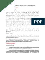 HERMENÉUTICA DE TEXTOS DE FILOSOFÍA ANTIGUA