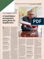 8-01-2012 'Construimos aeropuertos para gloria de arquitectos' (Entrevista a Alvaro Middelmann