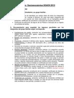 Acreditaciión Socioeconómica 2013. Documentos de respaldo a presentar.