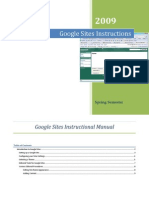 Google Sites Instructional Manual