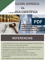 T. Juridica vs. T Cientifico-técnica