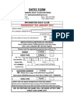 Bryanston 2013 Entry Form
