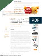 Validación de la escala de deshidratación clínica para niños con gastroenteritis aguda - Editorial Elsevier