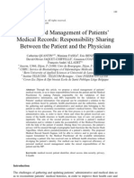 The Mixed Management of Patients'  Medical Records