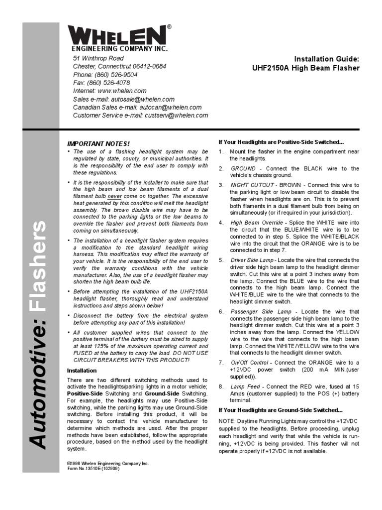 Strange Whelen Headlight Flasher Wiring Diagram Wiring Library Wiring Digital Resources Indicompassionincorg