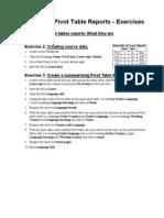Excel XP Pivot Tables Exercises
