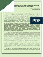 Disposiciones Tributarias Aplicables a La Mediana y Pequea Empresa en Relacin Con La Niif